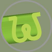Hình dáng sợi cỏ nhân tạo, hình chữ W