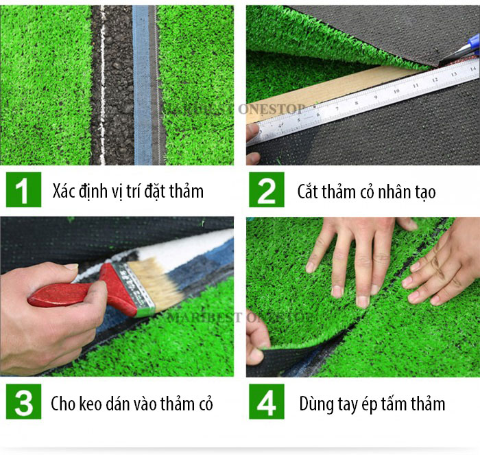 Cách thi công cỏ nhân tạo đơn giản