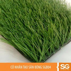 Mẫu cỏ nhân tạo sân bóng đá mini 5,7 người giá rẻ, chiều co cỏ là 50mm