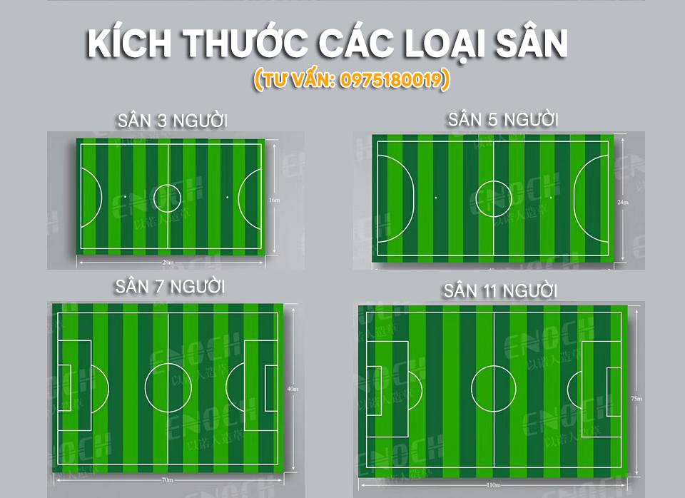 Kích thước sân bóng đá 5 7 11 người theo tiêu chuẩn FIFA