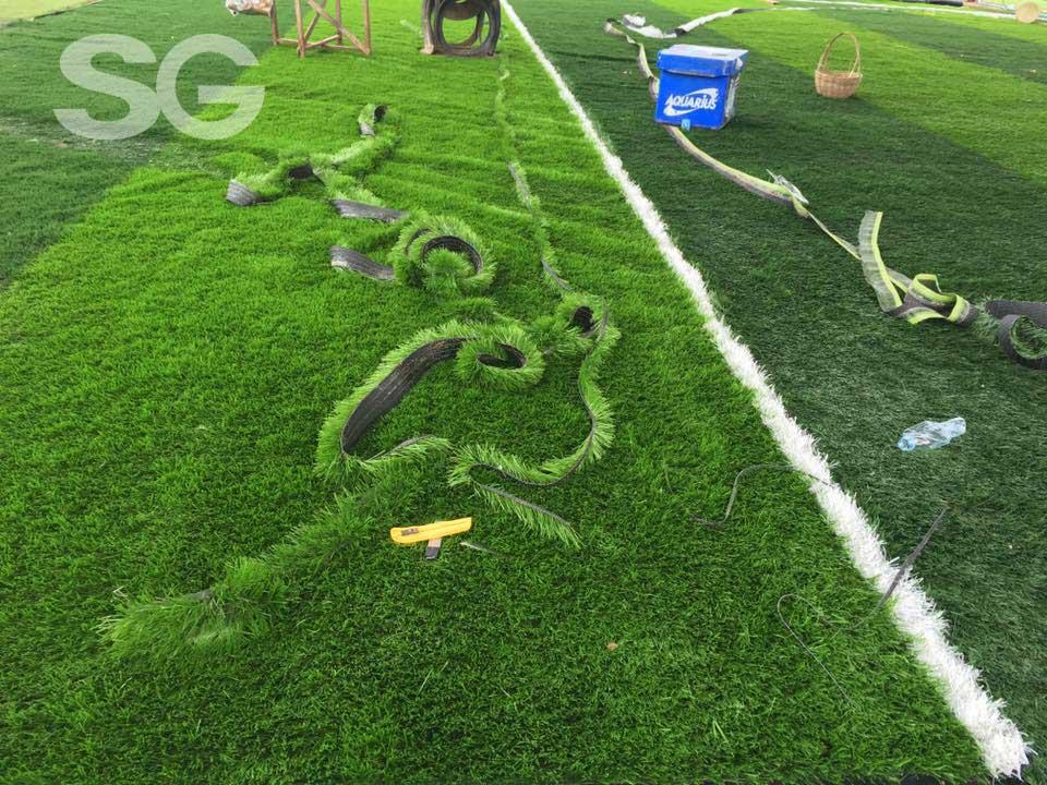 Tạo vạch vôi cho sân cỏ nhân tạo
