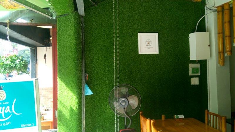 Thảm cỏ nhân tạo ốp tường