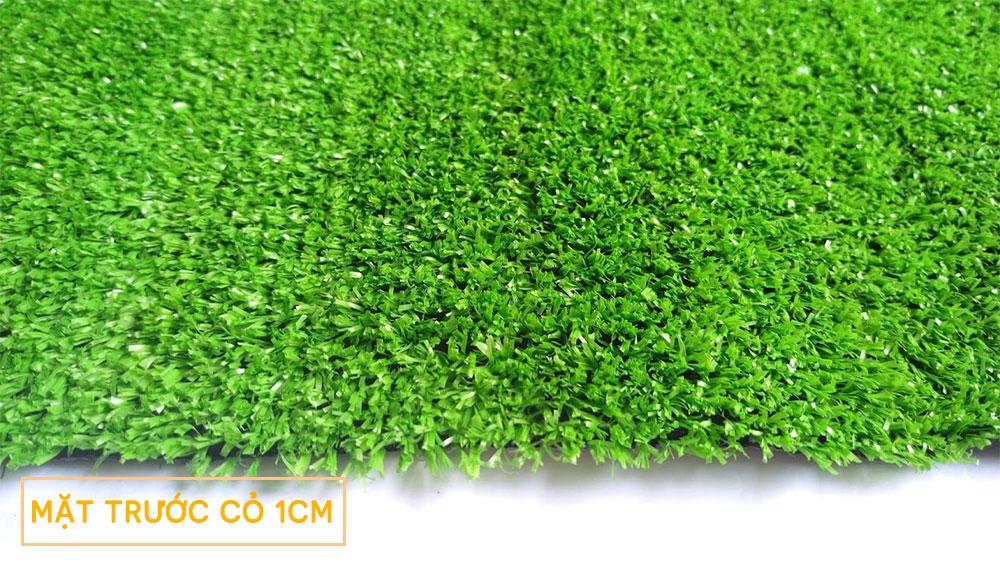 Hình mẫu Thảm cỏ nhân tạo sân vườn 1cm - Mặt trước