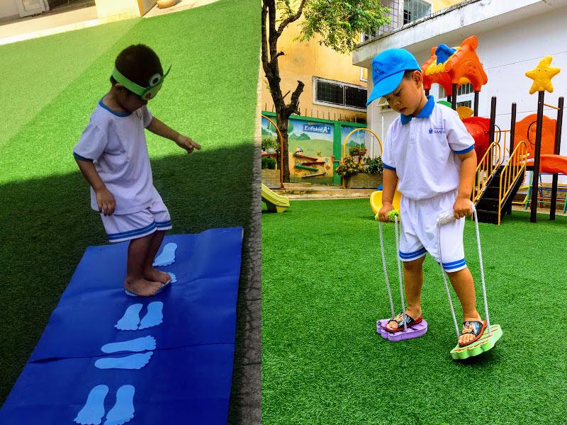 Thảm cỏ nhân tạo cho bé vui chơi