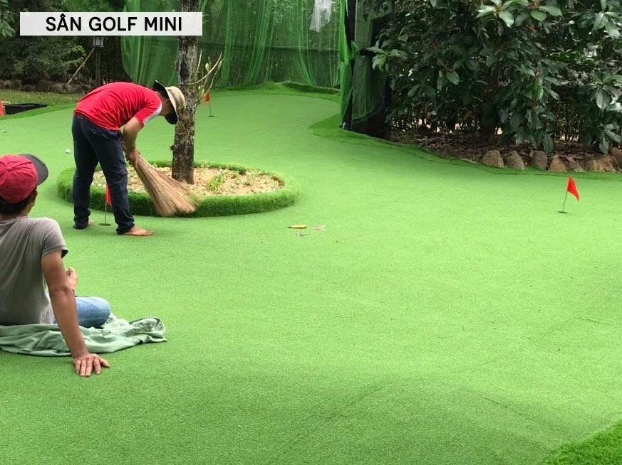 Làm sân golf mini tại nhà