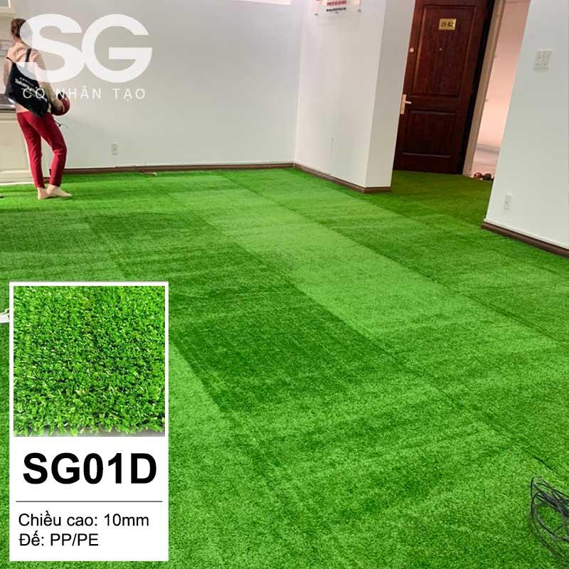 Thảm cỏ nhân tạo 1cm dày