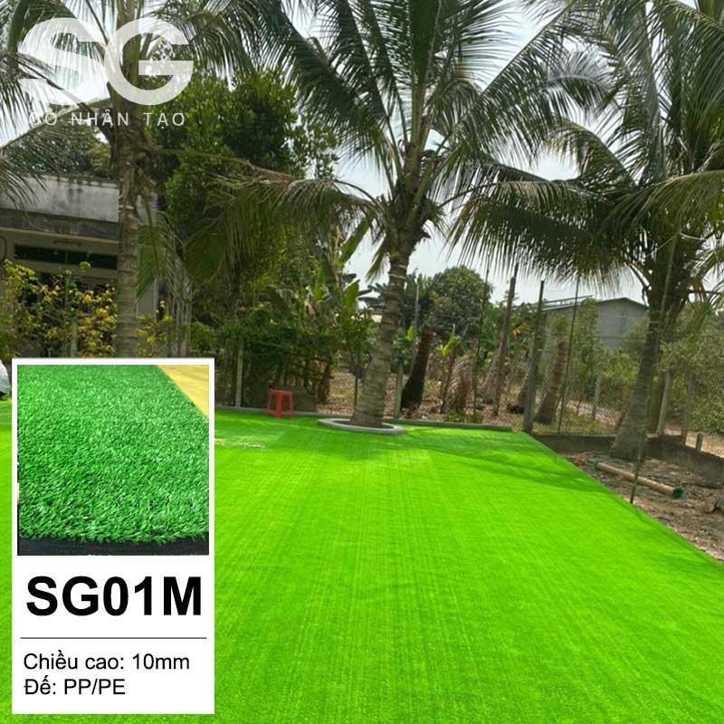 Thảm cỏ nhân tạo 1cm xanh non