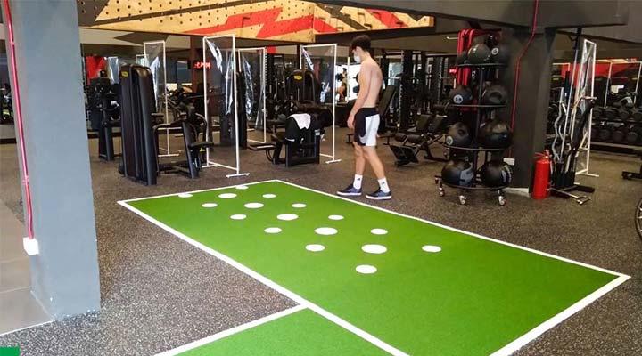 Cỏ nhân tạo trải phòng gym