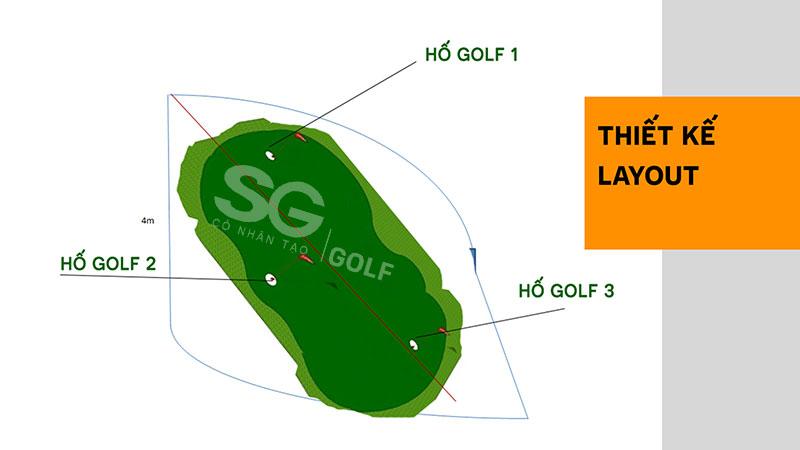 Thiết kế bản vẽ sân tập golf mini tại quận 2